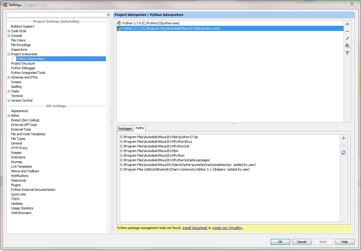 Setting up PyCharm with Maya 2014 (Windows) | Eternal W I P 's Blog