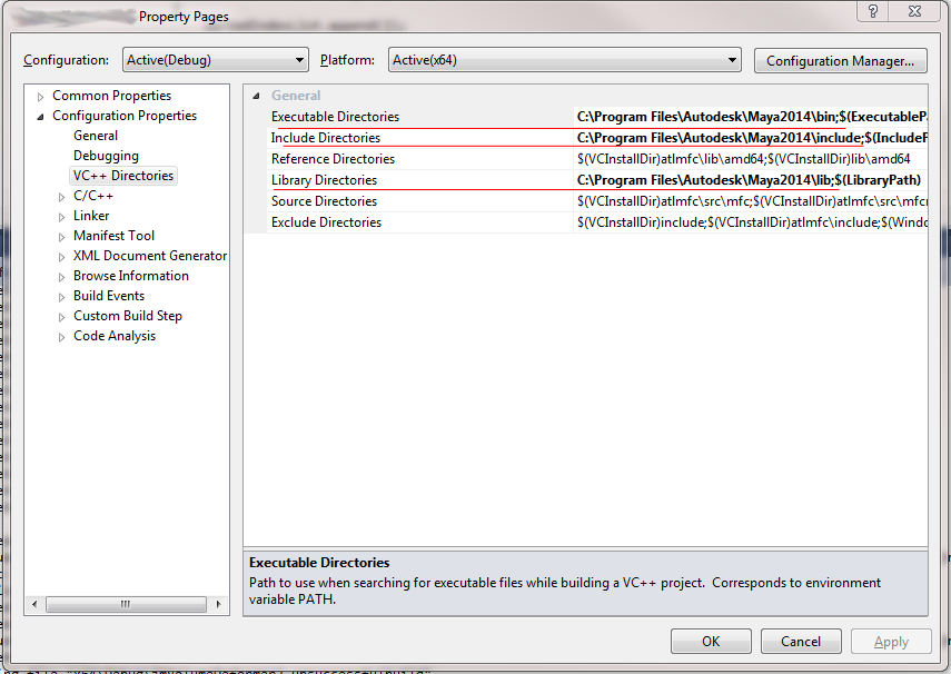 Setting up a VS 2010 C++ Project for a Maya 2014 Plugin